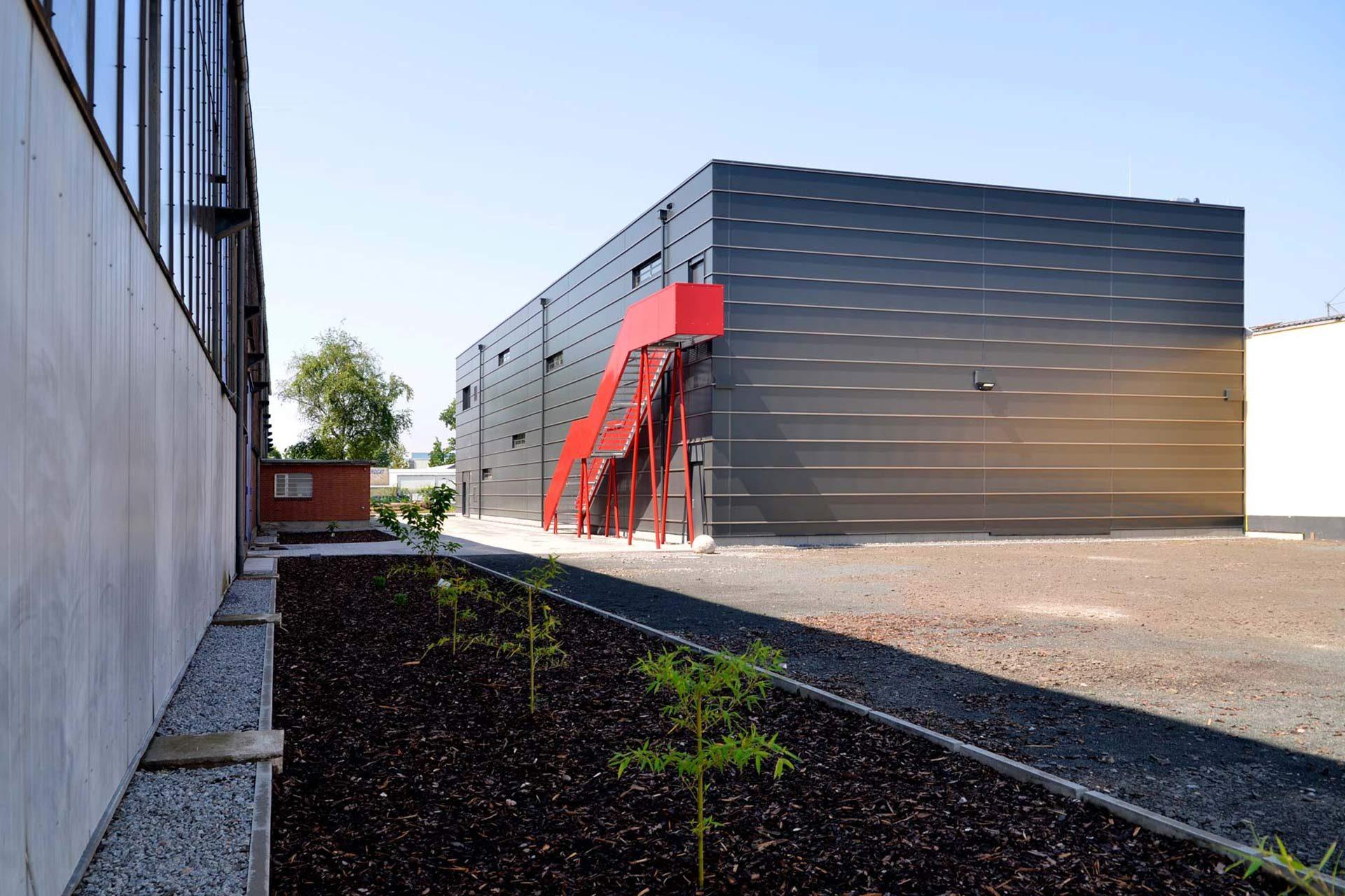 "Strobel Architekten | Projekt ""Depot"" Rückansicht"