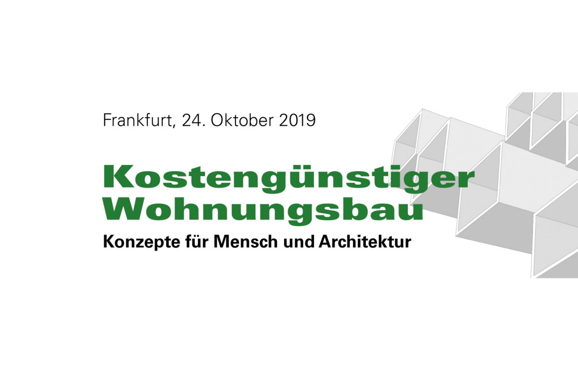 """Weiterbildung """"Kostengünstiger Wohnungsbau"""" in Frankfurt"""