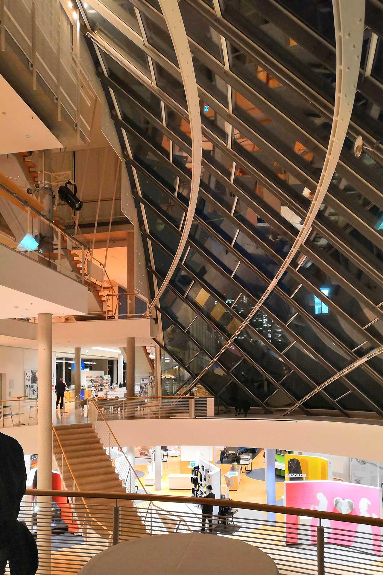 Innenansicht Museum für Kommunikation in Frankfurt