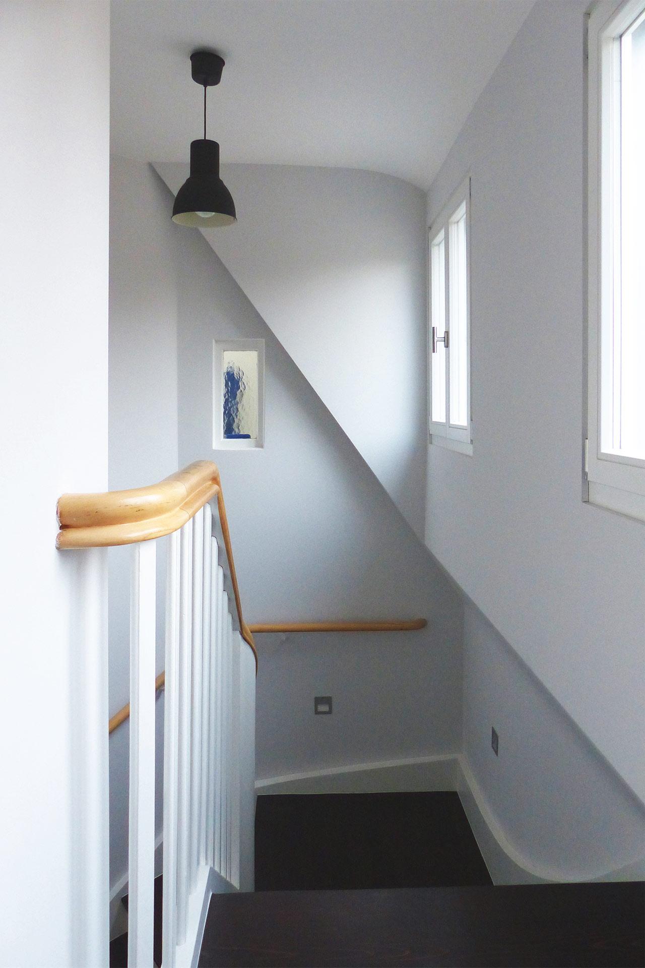 """Strobel Architekten   Projekt """"Haus ASH01"""" Treppenhaus"""