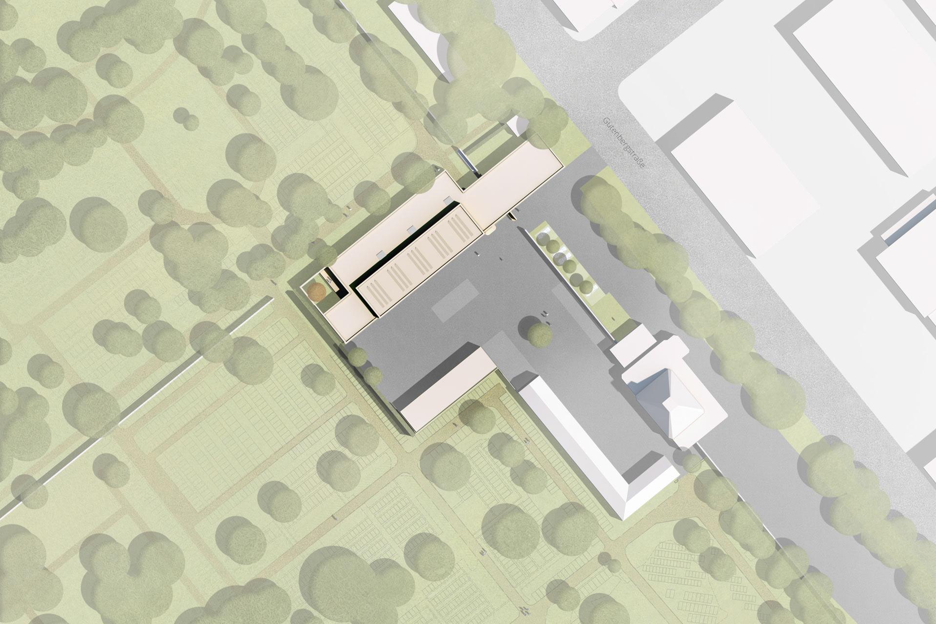 "Projekt ""WB Betriebshof Friedhof"" | Lageplan"