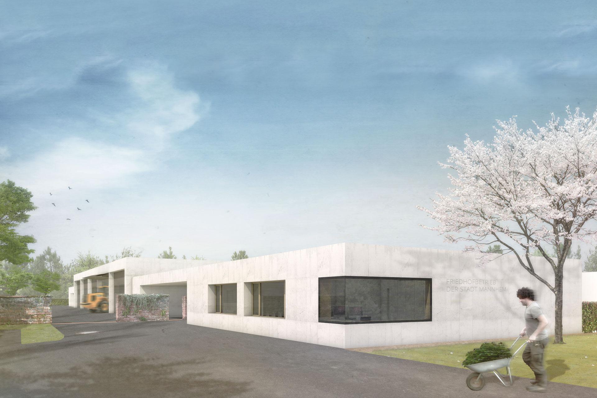 "Projekt ""WB Betriebshof Friedhof"" | Perspektive"