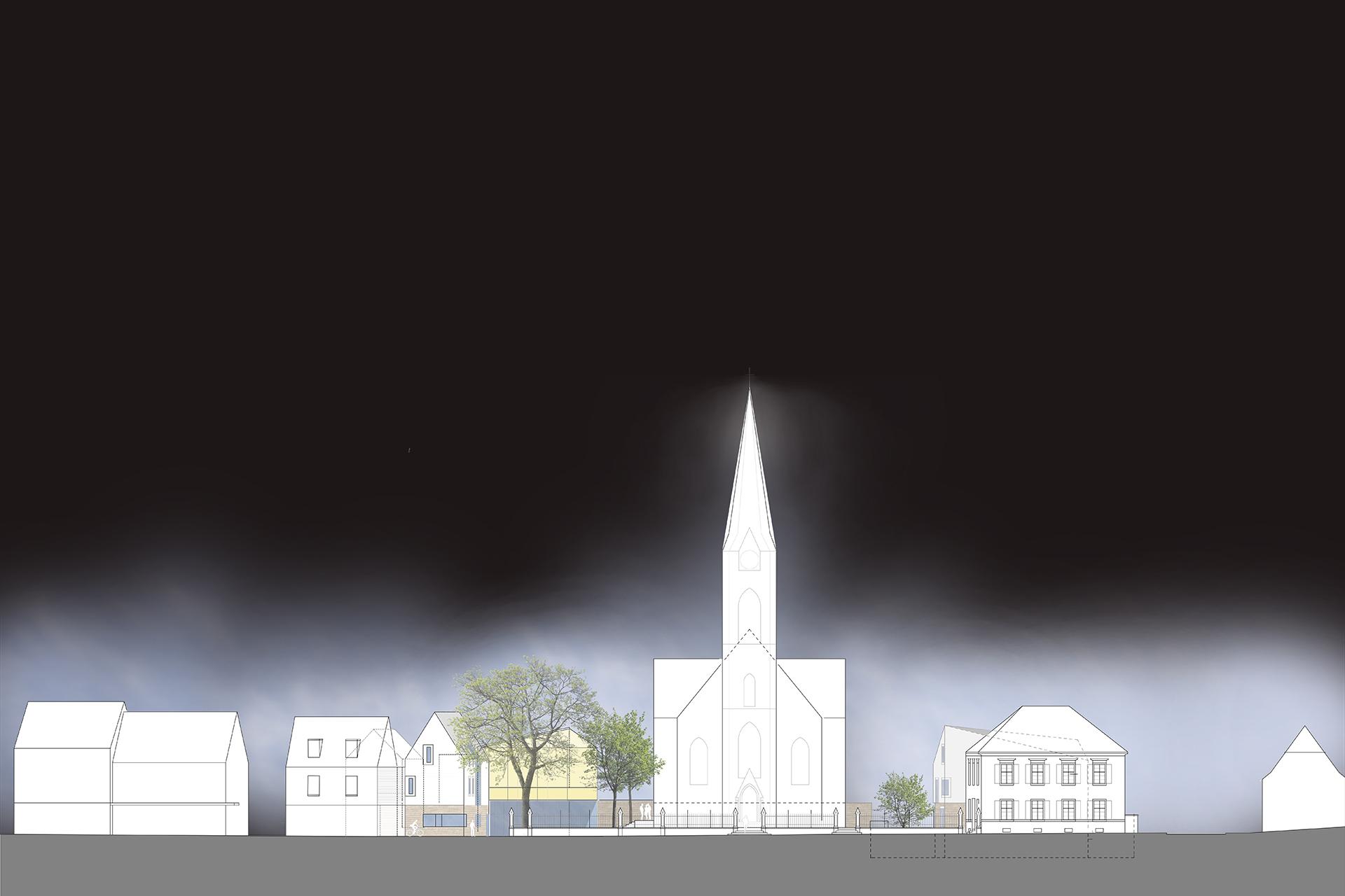 """Projekt """"WB Ev. Gemeindezentrum""""   Ansicht"""
