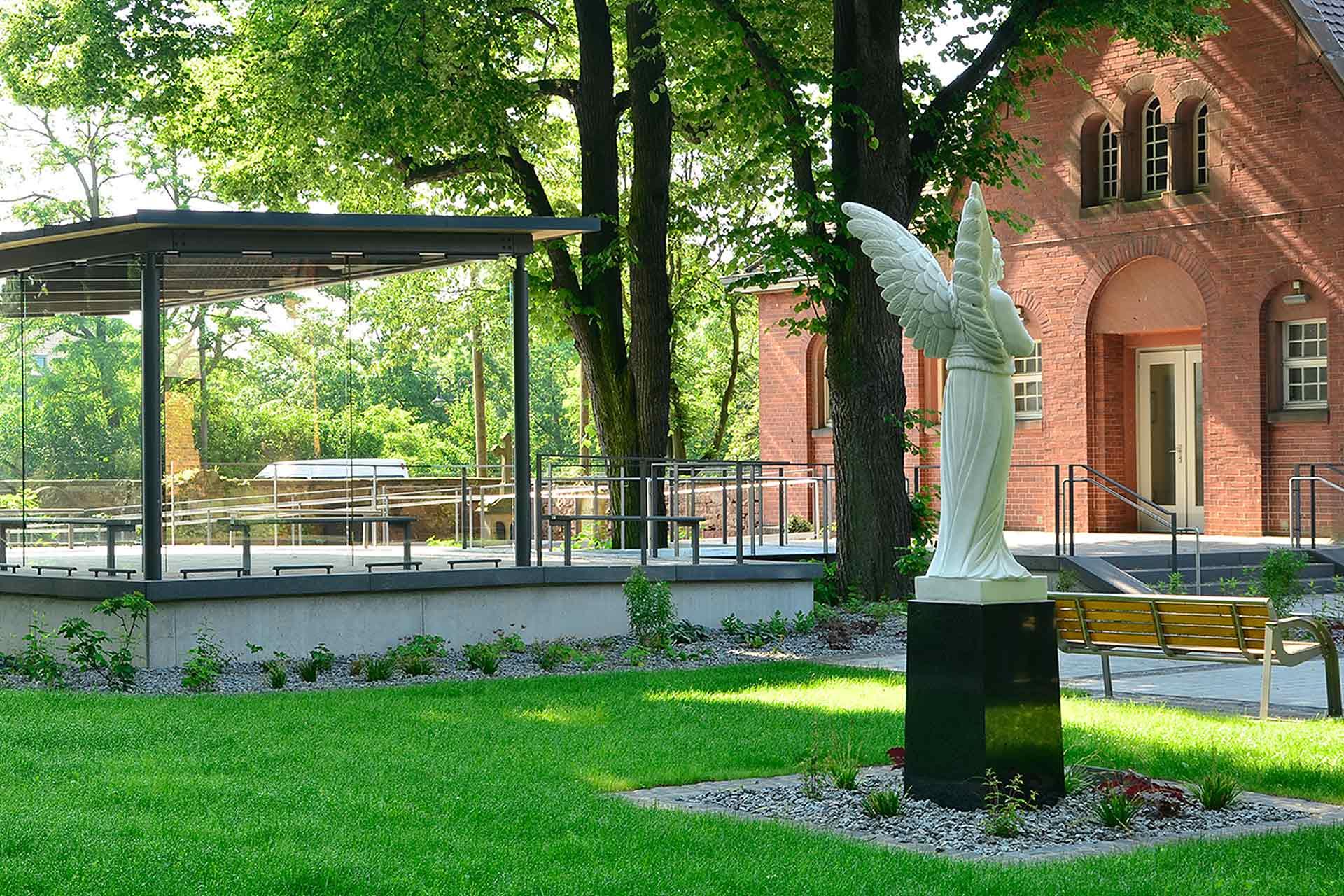 "Strobel Architekten | Projekt ""Trauerpavillon"" Engel"